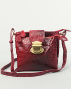 Fashion Lab - Hannah vegan snake skin satchel w/ gold buckle handbag