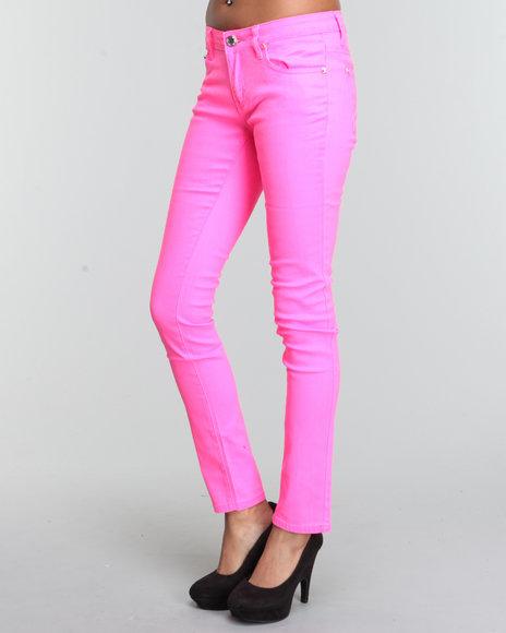 Basic Essentials - Women Pink Skinny Jean Pants