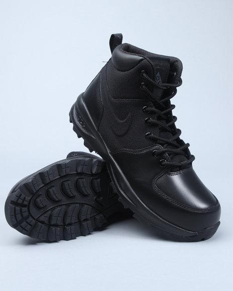 Nike Men Black Nike Mano Lthr/Txt Boots