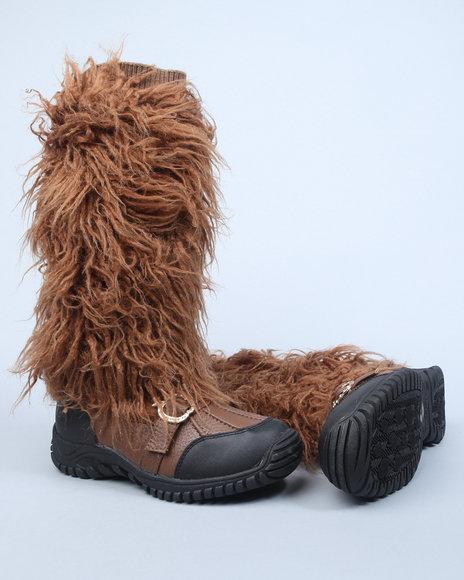 Apple Bottoms Women Tan Namari Boot W/Faux Fur