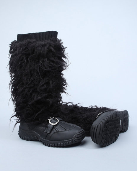 Apple Bottoms Women Black Namari Boot W/Faux Fur