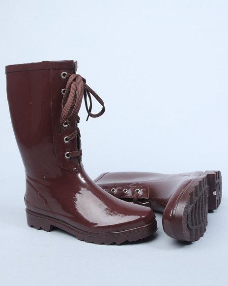 Apple Bottoms Women Brown Brown Rain Boots