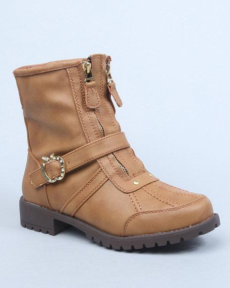 Apple Bottoms Women Tan Taya Ankle Boot