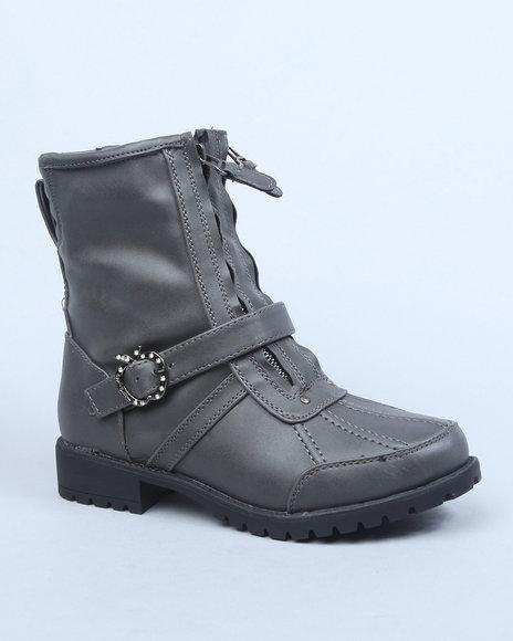 Apple Bottoms Women Grey Taya Ankle Boot
