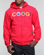 Men - Coogi Australia Basic Zip-Up Hoodie