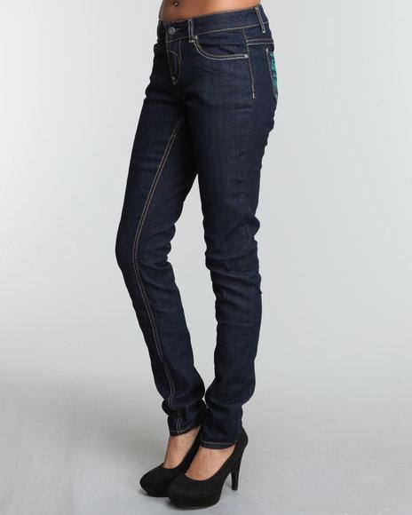 Rocawear Women Dark Wash Watch Me Skinny Jean