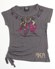 4-6X Little Girls - Mary Assymetrical Tee