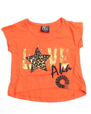 4-6X Little Girls - Coral Shirt