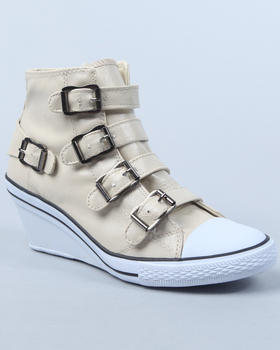 Fashion Lab - Angel Sneaker Wedge w/Buckles