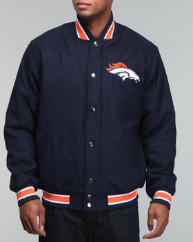 NBA, MLB, NFL Gear - Denver Broncos Varsity Jacket