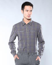 DJP OUTLET - Slim Fit Shirt w/ Zipper Chest Pockets and Button Up Sleeves