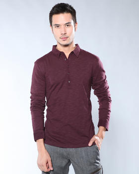 DJP OUTLET - Long Sleeve Slub Stripe Shirt