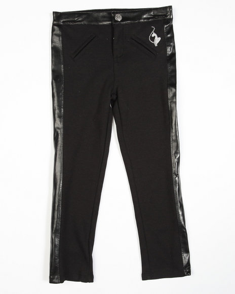 Baby Phat Girls Black Knit Tuxedo Jeggings (4-6X)