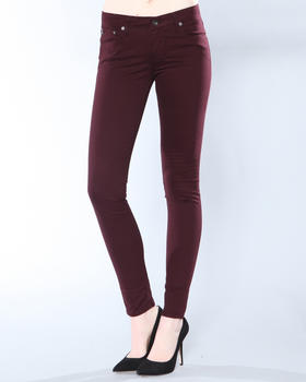 DJP OUTLET - Alex Mid Rise Skinny Fit Sateen Pant
