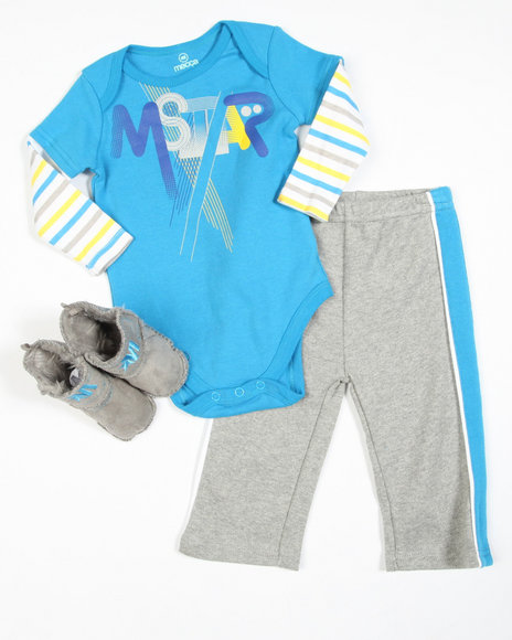 Mecca Boys Blue 2 Piece Boot Set (Infant)