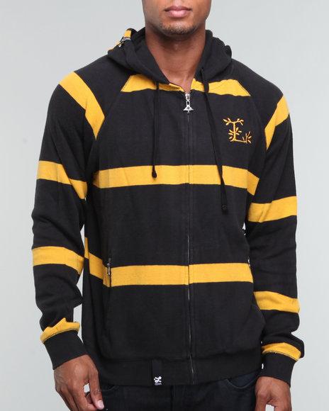 LRG Men Black Creative Uniform Co. Zip-Up Hoodie