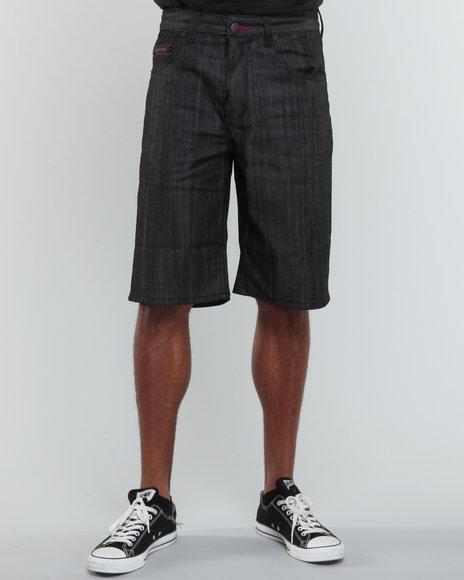 LRG Men Black Resolutionaries Classic Denim Shorts