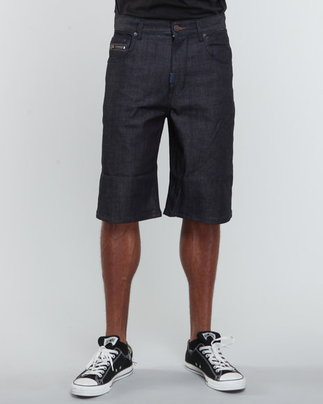LRG Men Raw Wash Resolutionaries Classic Denim Shorts
