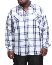 Button-down - Homesteader Roll Up Long Sleeve Plaid Shirt (B&T)