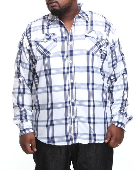 - Homesteader Roll Up Long Sleeve Plaid Shirt (B&T)