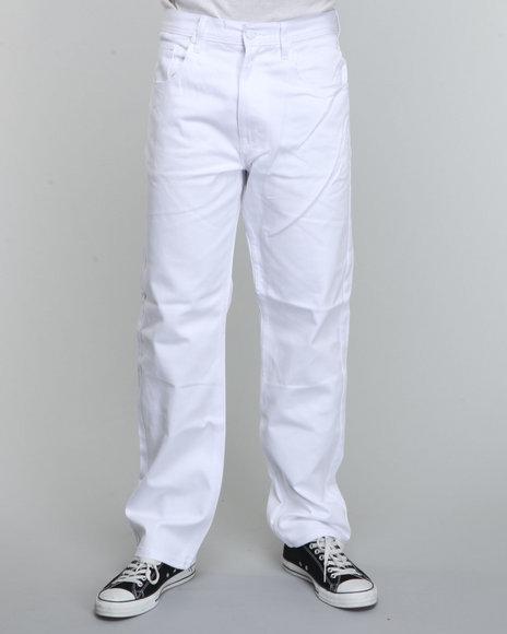 Akademiks Men White Neo Signature Twill Pants