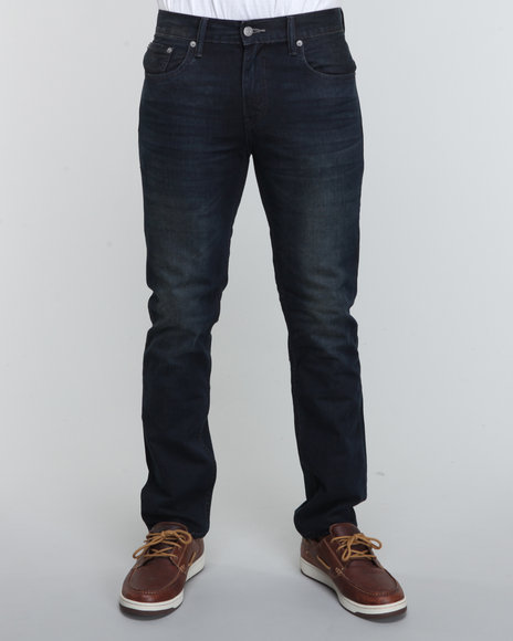 Levi's Men Dark Wash 511 Skinny Fit Midnight Oil Jeans