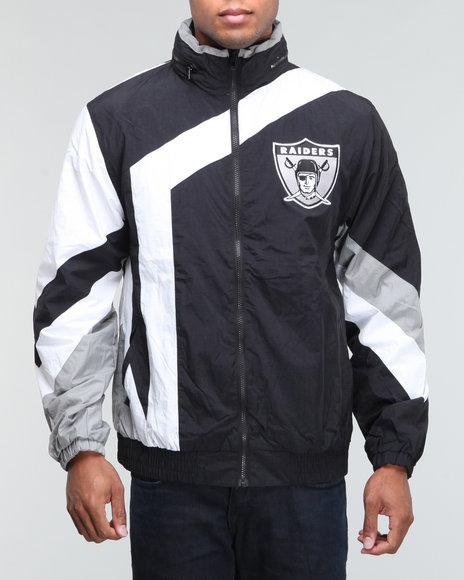 Men's Oakland Raiders Mitchell & Ness Black Rushing Yards Sweatshirt