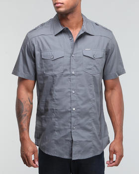 Marc Ecko Collection - Solid Poplin Military Shirt