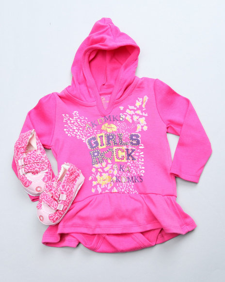 Akademiks - Girls Pink 2 Pc Carpi Set (Newborn)