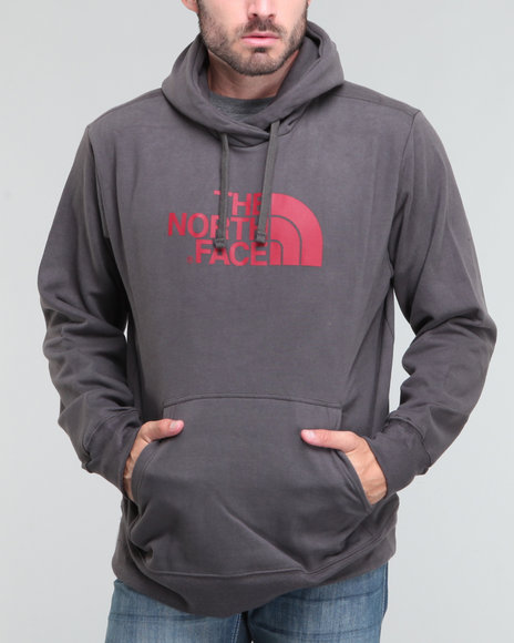 The North Face Men Grey,Red Half Dome Hoodie