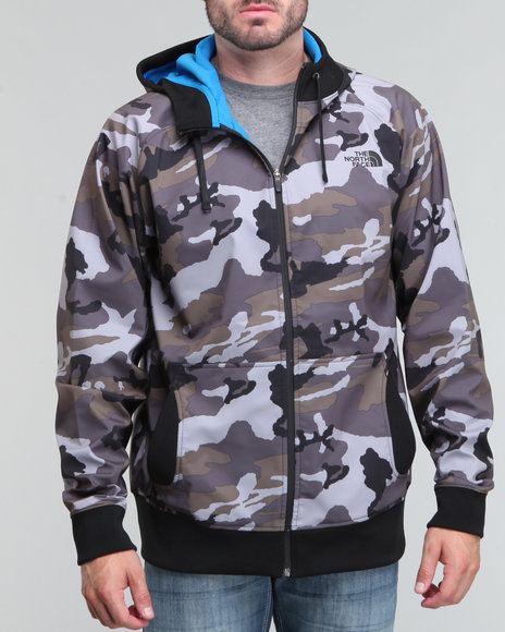 The North Face - Men Grey Halftrack Camo Hoodie