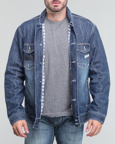 Pelle Pelle Men Indigo Classic Pelle Denim Jacket