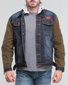 Men - A J Hooded Denim Jacket