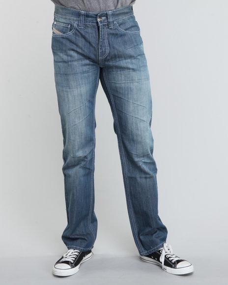Pelle Pelle Men Medium Wash Blue Osaka Denim Jeans