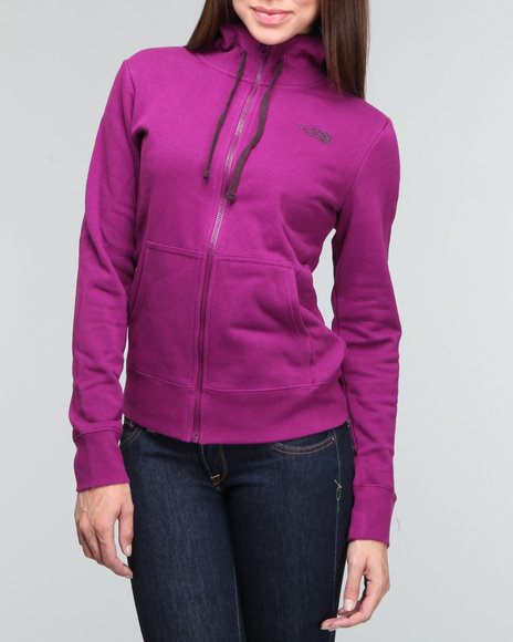 The North Face Purple Logo Full Zip Hoodie