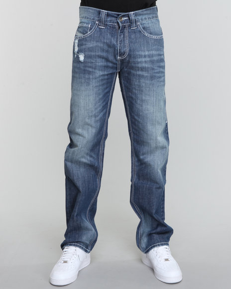 Pelle Pelle Men Indigo Indigo Stonewash Sport Denim Jeans