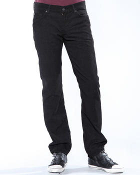 DJP OUTLET - Black Corduroy Slimmy Fit Pant