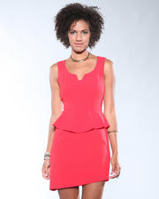 DJP Boutique - Solid Peplum Dress