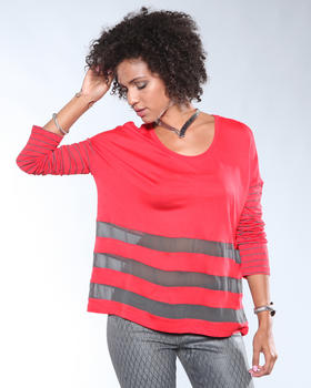 DJP OUTLET - Striped Crew Blouse