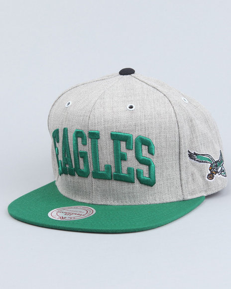 philadelphia eagles nfl throwback basic arch road grey 2t snapback cap