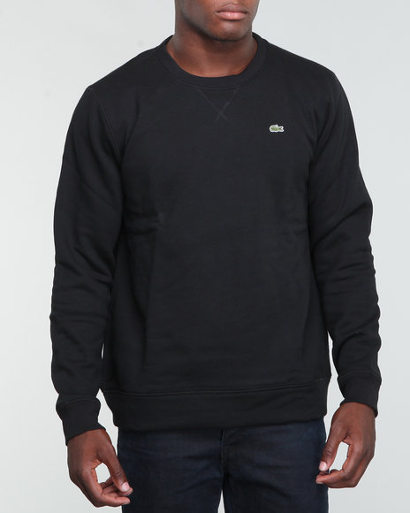 Lacoste Men Black Classic Crew Neck Fleece Sweatshirt