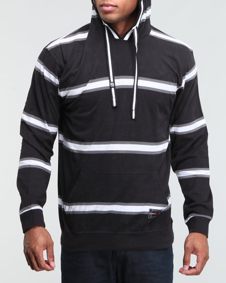 Southpole Men Striped Hoodie Pullover - Hoodies