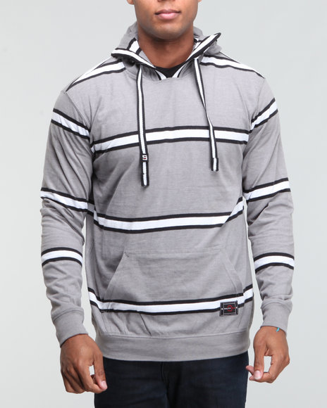 Southpole Men Striped Hoodie Pullover - Sweatshirts & Sweaters