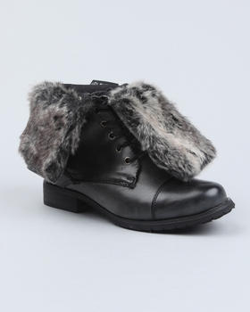 Fashion Lab - Karma Fold Over Faux Fur Boot