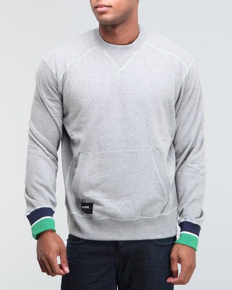 Rocawear Men Light Grey Delancey St. L/S Crewneck Sweatshirt