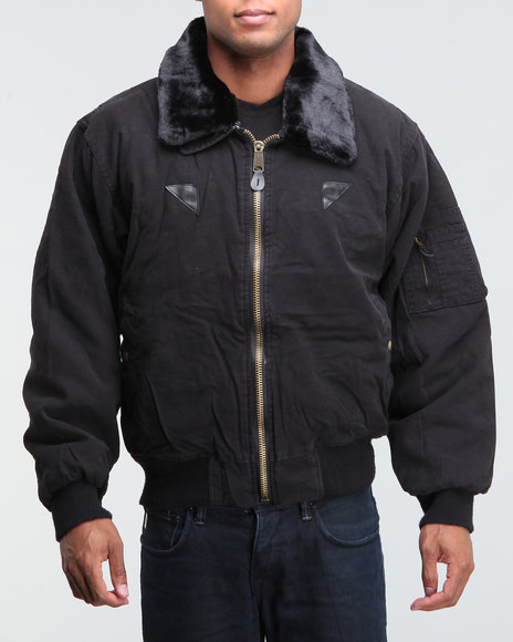Men Black Vintage B-15A Bomber Jacket
