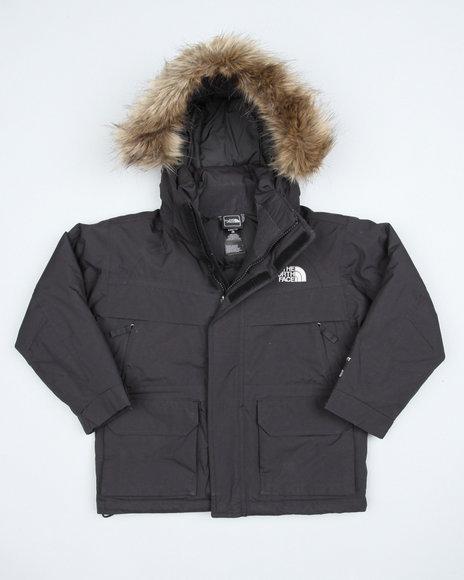 The North Face Boys Black Mcmurdo Parka W/ Faux Fur Trim