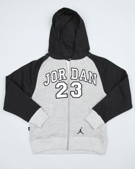 Air Jordan Boys Grey Jordan Core Fleece Hoodie (8-20)