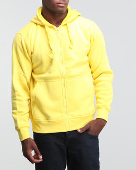 Basic Essentials - Neon Solid Full Zip Hoodie