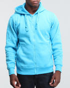 Men - Neon Solid Full Zip Hoodie